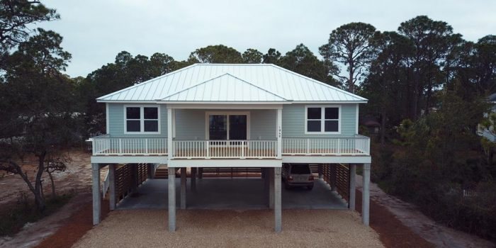 new construction canal view home located in the Gulf Beaches