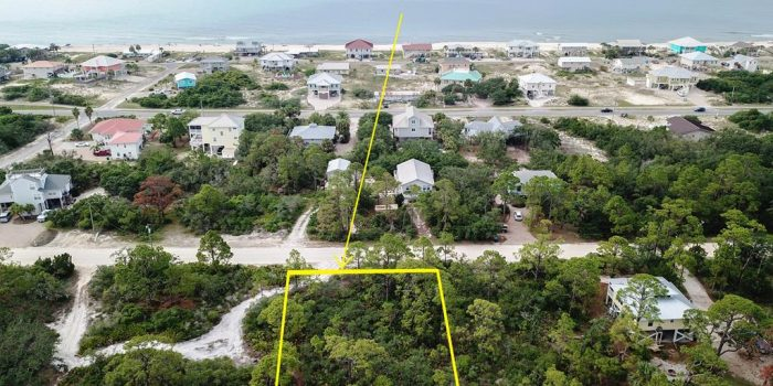 .33 acre gulf view lot located in the Gulf Beaches
