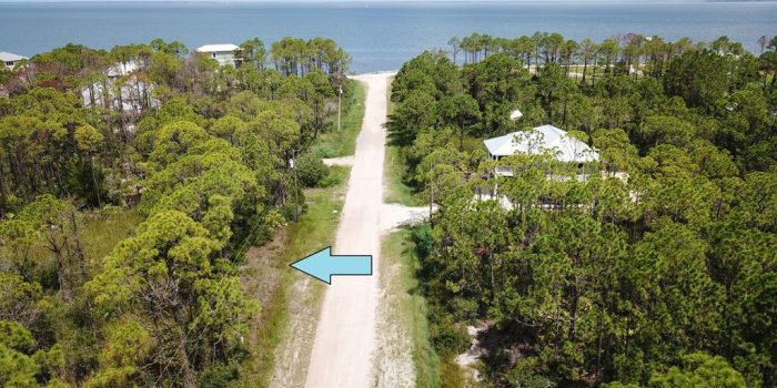 .279 acre bay view lot located in the Gulf Beaches