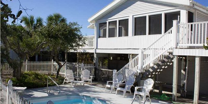 2nd tier beach house with private pool located in the Gulf Beaches