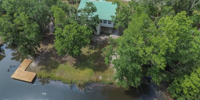 creek front home with boat ramp and dock located in Greater Apalachicola