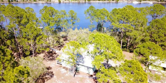 river front home with dock on the Carrabelle River