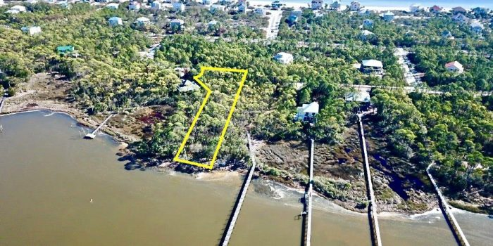 1.1480 Acre bay front lot located in Indian Bay Village in the Plantation