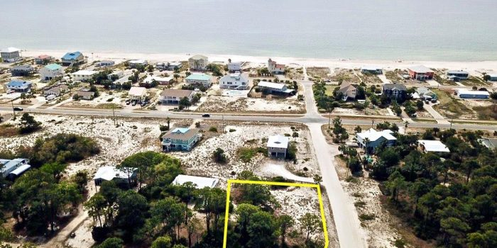 0.3440 Acre corner lot located in the Gulf Beaches