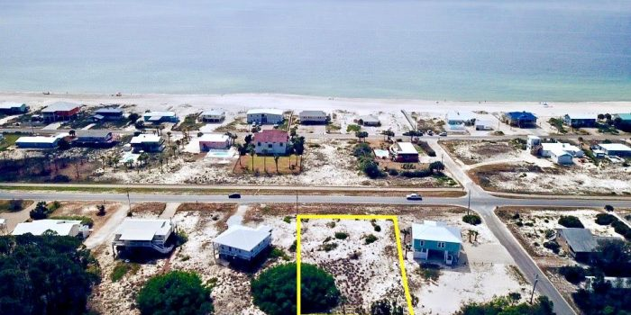 0.4020 acre gulf view lot located in the Gulf Beaches