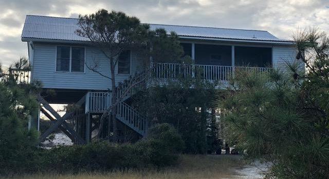 gulf front home on Dog island