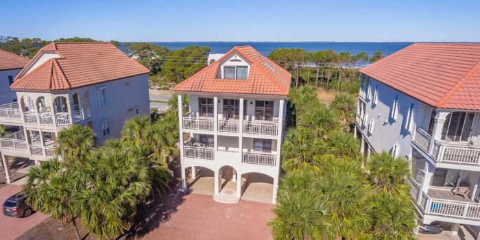 1st tier home with private pool and elevator located in Sunset Beach on the East End
