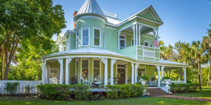 Victorian style home with private pool located in the Historic South side of Apalachicola