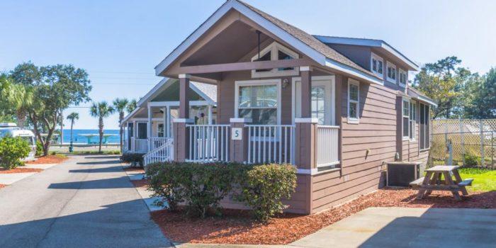 beach cottage located in Carrabelle Beach RV Resort