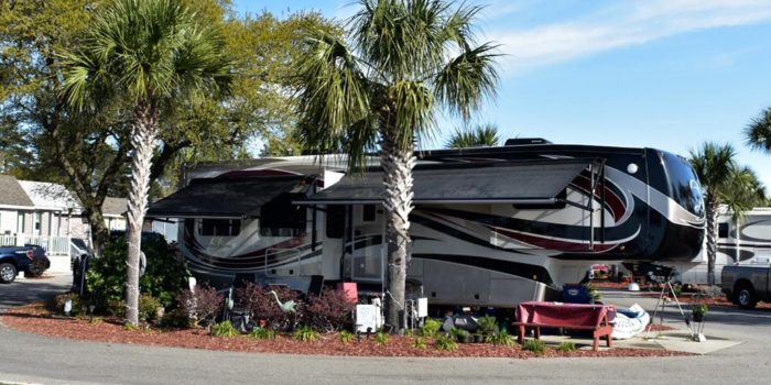 RV lot located in Carrabelle Beach RV Resort