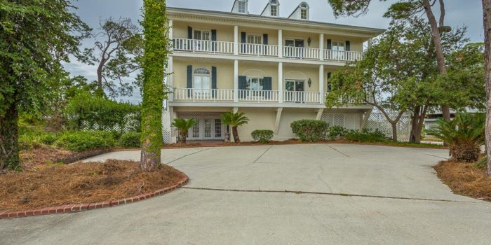 bay front home with fireplace located in Shell Harbor on the East End