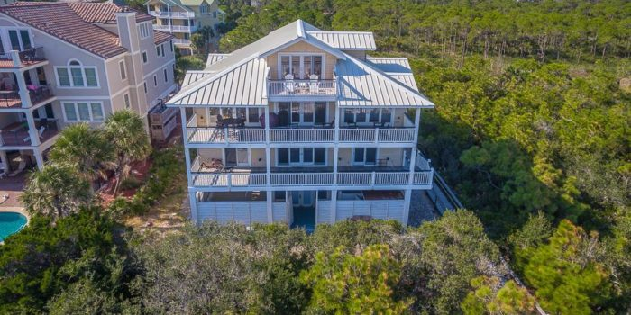 gulf front home with private pool  located in Schooner Landing in the Plantation