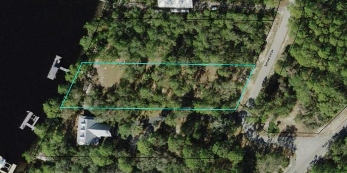 1 acre river front lot with dock located in River Bluffs subdivision